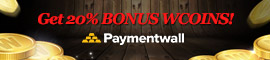 [C9] Notice - Top up with Paymentwall and get 20% Bonus Wcoin!